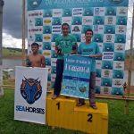 Atletas das escolinhas de natação da Semjel obtêm bons resultados na 3ª etapa do Circuito de Águas Abertas